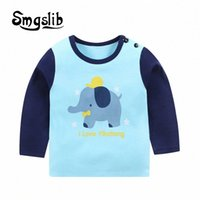 Smgslib рубашки футболки для Детских Дети Девочки Мальчики Мальчик рубашка динозавр Детский Детский Kid Хлопок Мультфильм Верхняя одежда 5h30 #