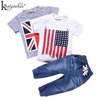 Conjuntos de ropa Keaiyouhuo 2021 Ropa de niños 3 unids Niños Summer Children Baby Sport Trajes para niños pequeños T-shirt + Jeans
