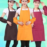 Adulti Grembiuli Pocket Craft cucina cottura Grembiuli adulto arte pittura di colori solidi Grembiuli Cucina Sala Bib personalizzabile Grembiule BH2950 TQQ