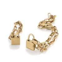 Moda Altın Kilit Kolye Kolye Zincirleri Bijoux Erkek Ve Kadınlar Için Parti Düğün Lovers Hediye Kutusu Ile Hediye Hip Hop Takı Y556