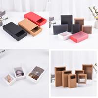 Solide Multi-Zweck Schmuck Organizer Kraft Paper Box PVC Schubladenkästen Seifenlagerungsbehälter Lippenstift Ohrring Halskette 1 3SZ D2