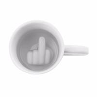 Creatieve Koffie Melkbeker 3D-pret Unieke Persoonlijkheid Middenvinger Melkkoffie Keramische Mok omhoog De Mok Cup Cool Home Decor Giften