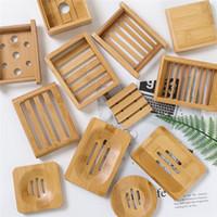 صحن الصابون صحن خشبي الطبيعية الخيزران صحن الصابون بسيطة الخيزران الصابون حامل رف لوحة صينية جولة مربع القضية