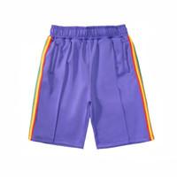 2020 mens ocasionales de la playa pantalones cortos para mujer diseñador breve carta ropa de los pantalones impresión arco iris tira de cinta informal de cinco puntos VG568