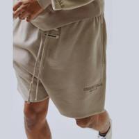 İlkbahar Yaz Avrupa ABD Yansıtıcı Şort Vintage Yüksek Kalite Sokak Elastik Bel Açık Kısa Pantolon Spor Gevşek Rahat Sweatpants