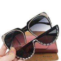 Óculos de sol EVARVE Rhinestone Moda Diamante Diy DIY Óculos de Sol para Mulher Vintage Steampunk Sheampunk Senhoras Luxo Feminino Senhoras 2021