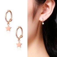 Nette 925 Sterling Silber Stern Charms Kreise Ohrknorpel Loops Huggie Hoops Ohrringe Für Frauen Schmuck Kinder Mädchen AROS ARETES1