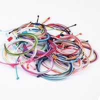 Charm sieraden 22 stijlen handgemaakte wax string draad armband multilayer geweven vriendschap armbanden Multicolour verstelbare gevlochten 447 z2