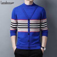 Мужские свитера 2021 качество толстые 100% шерсть зимняя мода бренд вязание половину водолазки кашемита свитер для человека дизайнер повседневная мужская одежда