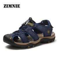Zimnie Marke Echtes Leder Männer Schuhe Sommer Neue Heiße Verkauf Männer Sandalen Casual Schuhe Mode Sandalen Hausschuhe Große Größe 38-48 T200420