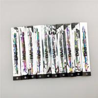 outil dab de titane clou dab 10 pièces 7 pouces plaqué titane 10 style arc-en-couleur pour le verre qq Bongs Pipes eau Quartz Banger Nails