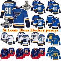 2019 Stanley Cup Champion St.Louis Bluessss 90 Ryan O'Reilly 50 Binnington 91 Vladimir Tarasenko 17 Schwartz Pietrangelo Hokey Jersey