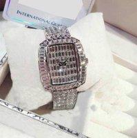 전체 다이아몬드 시계 ode to Joy National 레트로 강철 스트랩 시계 별이 빛나는 하늘 인기있는 스퀘어 플레이트 여성 시계 모조 다이아몬드 패션 디자인