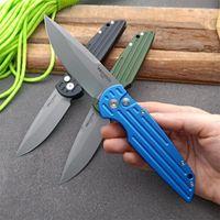 Hot Protech Cuchillo automático 6061-T6 Mango de aluminio Cuchillo plegable táctico 154cm Blade Camping Survival Pocket Cuchillos EDC Herramienta