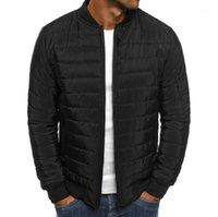 새로운 2020 겨울 자켓 망 의류 패션 단단한 스탠드 칼라 캐주얼 느슨한 따뜻한 코트 자켓 목화 의류 청소년 Trend1