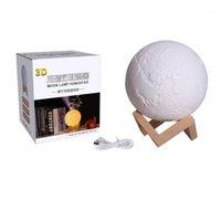 Humidificadores 880ml Lámpara de luna 3D Luz Humidificador Difusor Aroma Esencial Noche ultrasónico fresco Nieb Purifier Car Home1