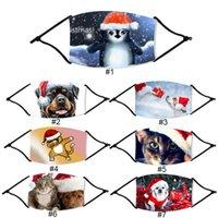 7 تصاميم عيد الميلاد قناع الوجه الحيوانات الرجال النساء الفم قناع قناع دعم إدراج تصفية عيد الميلاد الأزياء قابلة لإعادة الاستخدام حزب الغبار