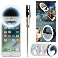 Selfie Recarregável Anel Luz LED Flash Beauty Beauty Câmera de Clipe para Telefone Tablet Laptops Portátil Ao Ar Livre Lamp Fabricante