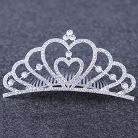 كريستال العروس ولي تيارا مشط الماس القلب تاج عقال غطاء الرأس الزفاف عيد ميلاد مهرجان الأزياء والمجوهرات سوف & ساندي جديد