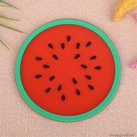 U Fabrik Candy Mat Frucht Silikon Farbe Becher Kreative Nonslip Isolierpolster Untersetzer Tischzubehör Küche Gadge 4u