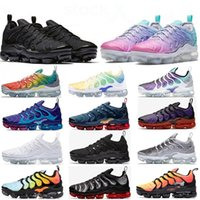 des chaussures VAPORMAX PLUS baskets femmes hommes off white TN GRANDE TAILLE EUR 47 women mens STOCK X running shoes High Quality trainers sneakers