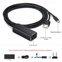 بطاقة شبكة محول Ethernet ل USB تلفزيون تلفزيون عصا Google Chromecast TF6 كابلات إيثرنت رقمية رقمية