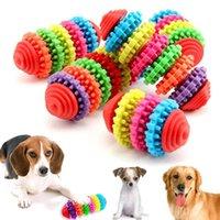 Hundespielzeug Kauen Haustierkauspielzeug Welpe Zahnzähne Zahngummi Bissbeständige Cachorro Bunte Natürliche Gummi Zahnreinigungswerkzeuge für kleine