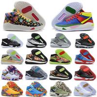 Ucuz Kevin Durant KD 13 XIII Kevin Basketbol Ayakkabı 13s Erkek Siyah Mavi Camo Soles Için Bred Varış Eğitmenler Ayakkabı Sneakers