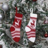Weihnachtsstrumpf Geschenk Tasche Weihnachtsdekorationen Strümpfe Süßigkeiten Tasche Anhänger Dekorative Weihnachten Dekorative Socken Taschen 02