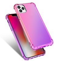 New Phone Cases Gradient Colors Anti Shock Airbag Clear Cases For iPhone 12 Mini 11 Pro Max XS 8 7Plus 6S