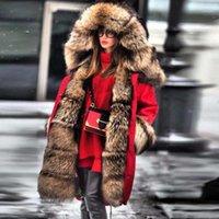 Mulheres para baixo parkas lanxirui mulheres parka casacos grossos grandes colarinho de pele capuz casaco quente wintet forro longo jaqueta de inverno longo para mulheres1