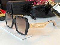 1106 Nuevas gafas de sol de alta gama Popular Fashion Ladies Special Plate Top Plate Full Frame Style UV Protection Globos Marco completo Caja gratis