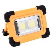 Портативные фонарики Xanes Cob / LED USB Solar зарядки кемпинга легкий водонепроницаемый 4 режим 180 ° ручка регулируемый прожектор прожектор