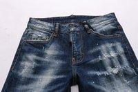 2021ss أحدث الرجال الإيطالي جوفاء عالية الجودة جينز الهيب هوب شعار مصمم السراويل الرجال حجم 28-38 نموذج جديد DN332
