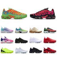 TN PLUS Мужская женская беговая обувь размером 13 муха вязаный все черные тренеры Flynit TNS плюс спортивные кроссовки TN EUR 36-47