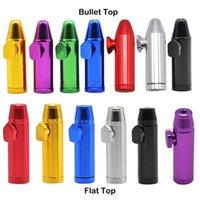 Bullet Rocket Formado Snuff Bottle Snorter Bag Sniff Dispenser 53mm Altura Altura Metal Nasal soportable para fumar del cigarrillo del tabaco