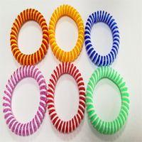 Natural refrescante fragrância pulseira mantendo muito tempo pulseira cor pura muitos tipos pulseiras de mosquito controle novo 0 45hs c2
