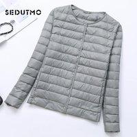 SEDUTMO Winter Plus Size 4XL Womens Down Jacket Ultra Light Duck Down Coat Short Autumn Slim Short Puffer Jacket ED617 201016