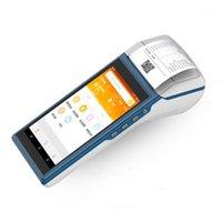 المحمولة محطة المساعد الشخصي الرقمي 5.5 بوصة شاشة تعمل باللمس اللاسلكي اللاسلكي المحمولة أندرويد بلوتوث 58 ملليمتر طابعة استلام الحرارية android1