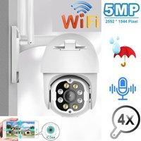 Caméras Evkvo 5MP PTZ Caméra IP PTZ Outdoor Wifi Speed Dome Sans fil CCTV Sécurité Pan Tilt 4x Zoom Surveillance Siren Alarm1
