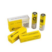 100% Original Listman IMR 18650 3000mAh 40A 3.7V Alta dreno de bateria recarregável para 510 fio Box Mod rápido DHL
