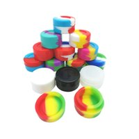 Round 5ML Jar Nonstick Silicone Container Jars Dabs wax containers Box Non-stick food grade dab tool storage holder DHL Free
