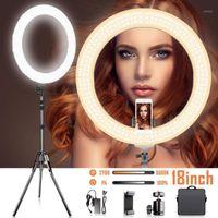 Flash Heads Bicolor Dimmable Кольцовая лампа 18-дюймовый Светодиодный свет 2700-5500K Цветовая температура Pogrape Ringlight для YouTube Portore1