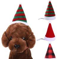 Haustier Santa Hut Weihnachten Katze Hund Winter Warme Plüschkappe Weihnachten Party Dekor Hut Lustig Nette QP21