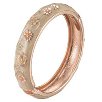 High quality Sunflower Cloisonne Bracelet Sets Beautiful bangle Trendy Jewelry Vintage Accessories 55C36