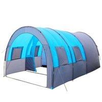 الأسرة في الهواء الطلق نزهة خيمة أكسفورد القماش طبقة مزدوجة النفق للماء خيمة التخييم رحلة التنزه تهوية وتبادل الهواء