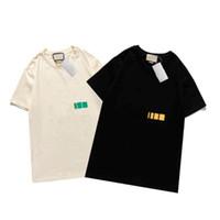 21ss Moda Tasarımcısı T Gömlek Erkekler Tee Gömlek Yaz Kadın Rahat Kısa Kollu Homme Giyim 4 Stilleri