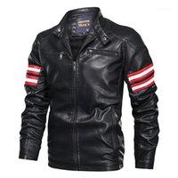 Erkek Kürk Faux Negizber 2021 Kış Motosiklet Deri Ceket Erkekler Moda Fermuar Topluluğu Giyim Streetwear1
