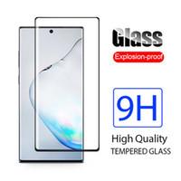 Pour Samsung Galaxy S21 Ultra 5G Verre trempé 3D 9H Couvercle en plein écran Plein écran anti-explosion Protecteur d'écran pour S21 + Note20 S20 Ultra S20 +