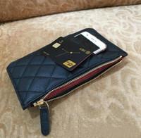 Sac de téléphone portable de Fashion Paris Femmes Multi-fonction Zero Money Sac de créateurs Cuir Cuir Sac de carte de crédit de luxe VIP Portefeuille à glissière longue